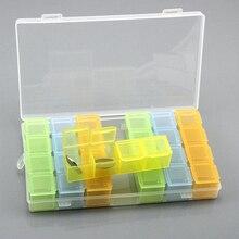 Peter ren 28 Grids Guitar Picks Box Clear Plastic Storage For Plectrum Accessories Diamond Painting Tools
