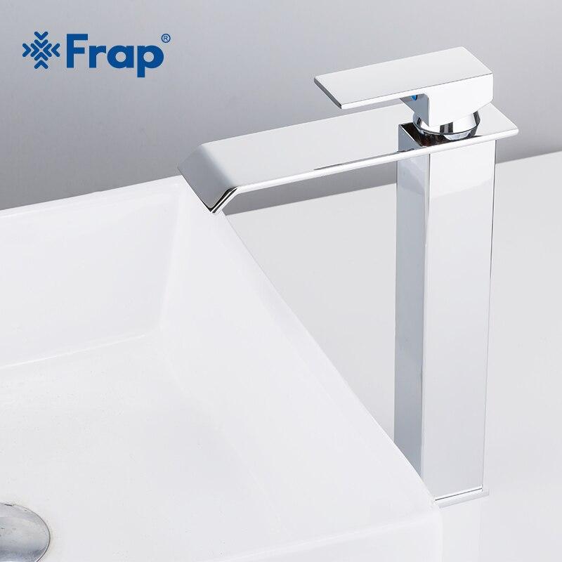 Frap nouveauté cascade robinet en laiton salle de bains robinet salle de bain bassin robinet grand mélangeur robinet chaud et froid évier robinet Y10145 - 3