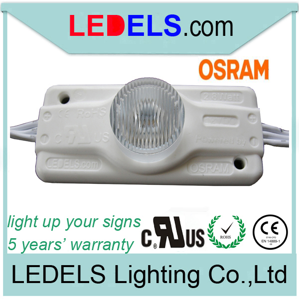 300pcs/lot,UL approved,12V 2.8W 245 lumen high power led module for sign boxes double side illuminated 5 year warranty
