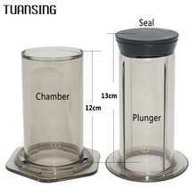 TUANSING French Press Coffee Maker Pot Portable Coffee Maker Air Press Espresso Machine with 350pcs Filter Papers