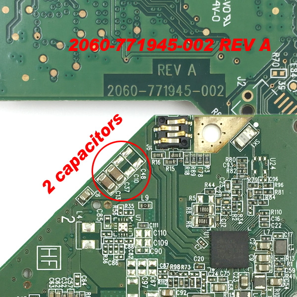 """Western Digital 3.5"""" SATA HDD WD30EZRX-00D8PB0 PCB Board 2060-771945-000 Rev P1"""
