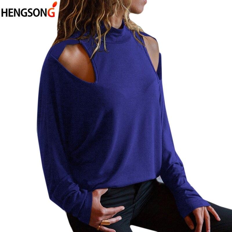 Women Hole o-neck t-shirt 2018 Autumn Casual Women Loose Long Sleeve Tops T Shirt Harajuku Top Female T-shirts For Women