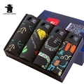 Alta calidad de los hombres boxeadores 4 unids/lote marca muchos colores impresión diseño convexidad cómodo 100% algodón underwear hombres cueca bc2cf13