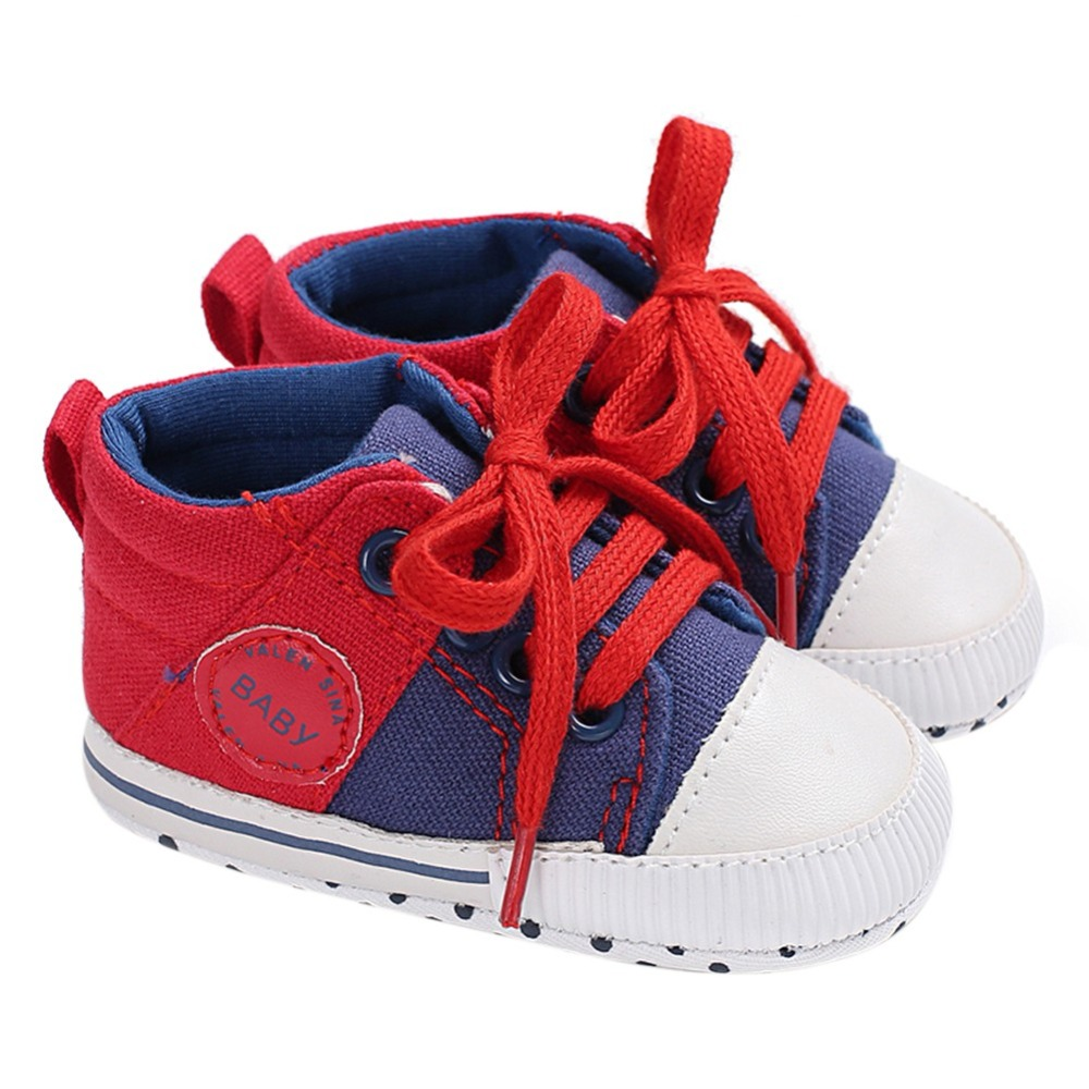 Baby First Walkers Boys Shoes Casual Soft Sole Canvas Lace-Up Shoes Hot Sale Infant Baby Shoes 0-18M