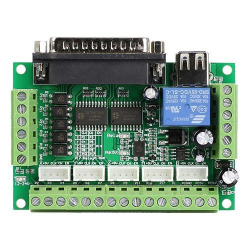5 Axis Cnc Breakout Board 12 24v Cnc Board Interface Usb Mach3 For Stepper Motor Driver Board