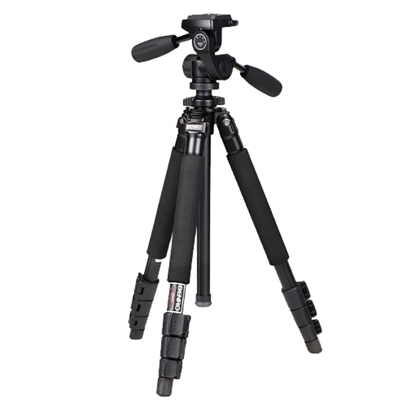Pro Aluminum Tripod With HD1 Ballhead Bubble Level Monopod 4 Section+Carrying Bag Kit BENRO A350FHD1|Tripods| |  - title=