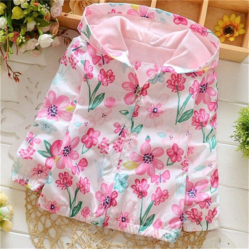 Spring 2018 New Cotton Baby Girls Coat Spend Three Flowers Lollipops Dot Jacket Cardigan Kids Children Clothing Autumn 5
