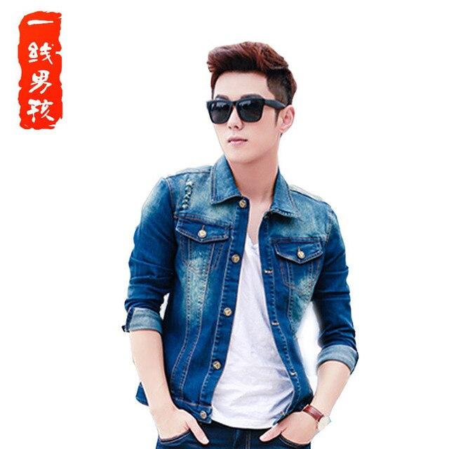 New Brand Men S Denim Jacket Jacket Korean Wash Old Jeans Spring