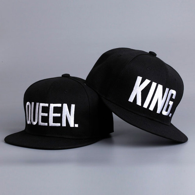 Fashion KING QUEEN Hip Hop Baseball Caps Embroider Letter Couples Lovers  Adjustable Snapback Sun Hats for Men Women KH981562 7e757c7b1c00