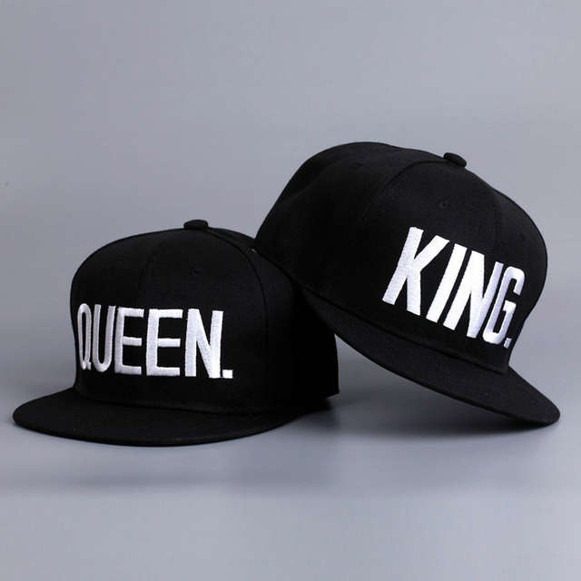 97517cdcc2829 Fashion KING QUEEN Hip Hop Baseball Caps Embroider Letter Couples Lovers  Adjustable Snapback Sun Hats for Men Women KH981562-in Baseball Caps from  Apparel ...