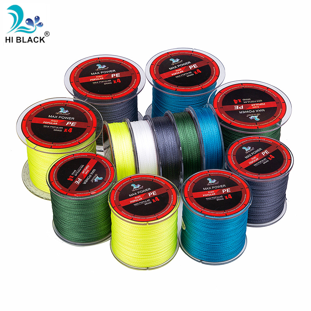 300M 500M 1000M 4 Strands 8-80LB Braided Fishing Line PE multifilamen Braid Lines Lake River Fishing wire Smoother Floating Line