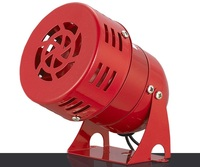 110DB Motor Horn 12V 3 Automotive Air Raid Siren Horn Alarm Car Trucks Motor Driven Alarm Metal Horn For Vehicle
