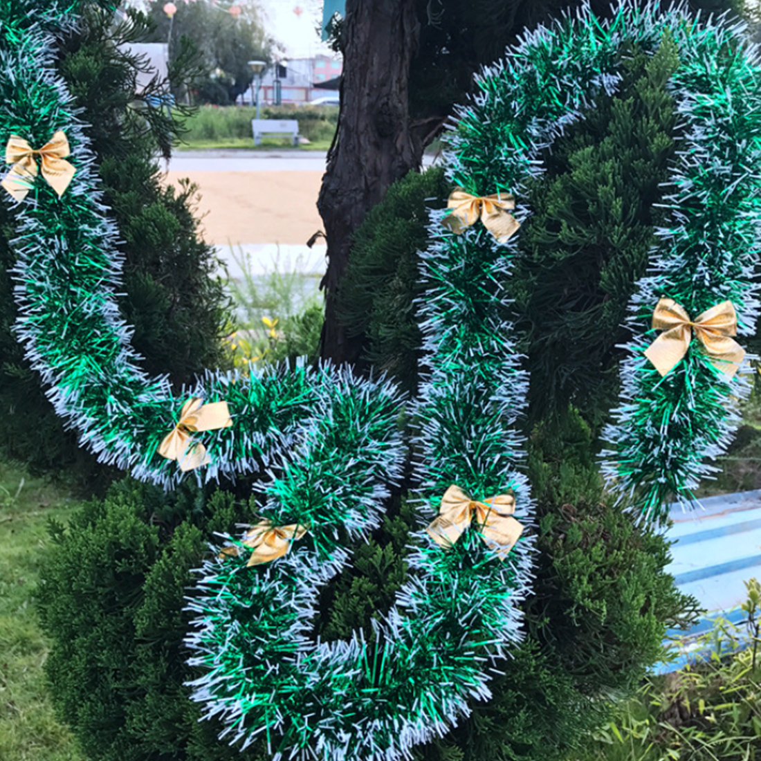 White Christmas Tree Decorations Australia: New2M Colorful Christmas Decoration Bar Tops Ribbon