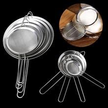 Stainless Steel Colanders & Strainers High Density Fine Mesh Dumplings Fritters Ravioli Drain Filter Heat Resistant Kitchenware