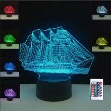 שיט ספינה מנורת שולחן