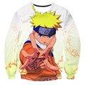 Clássico Anime Naruto Ninja Forma Camisola 3D Digital impressão Crewneck Pullovers Das Mulheres Dos Homens de Manga Longa Outerwear casuais
