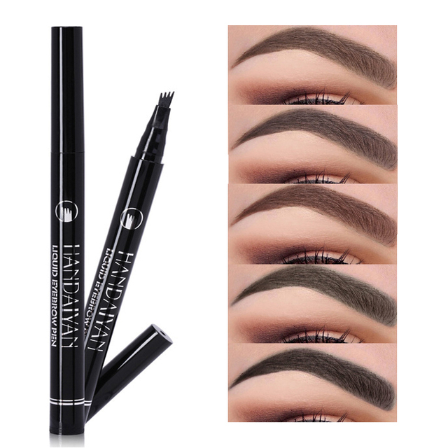 Liquid eyebrow pencil Waterproof Long Lasting 4 Fork microblading Eyebrow Tattoo Pen crayon sourcil wunderbrow Pen Tint Makeup 1