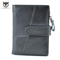 BULLCAPTAIN Leisure Fashion Men Wallet Genuine Leather Cowhide Wallets With Card Holder Short Design Hasp Male