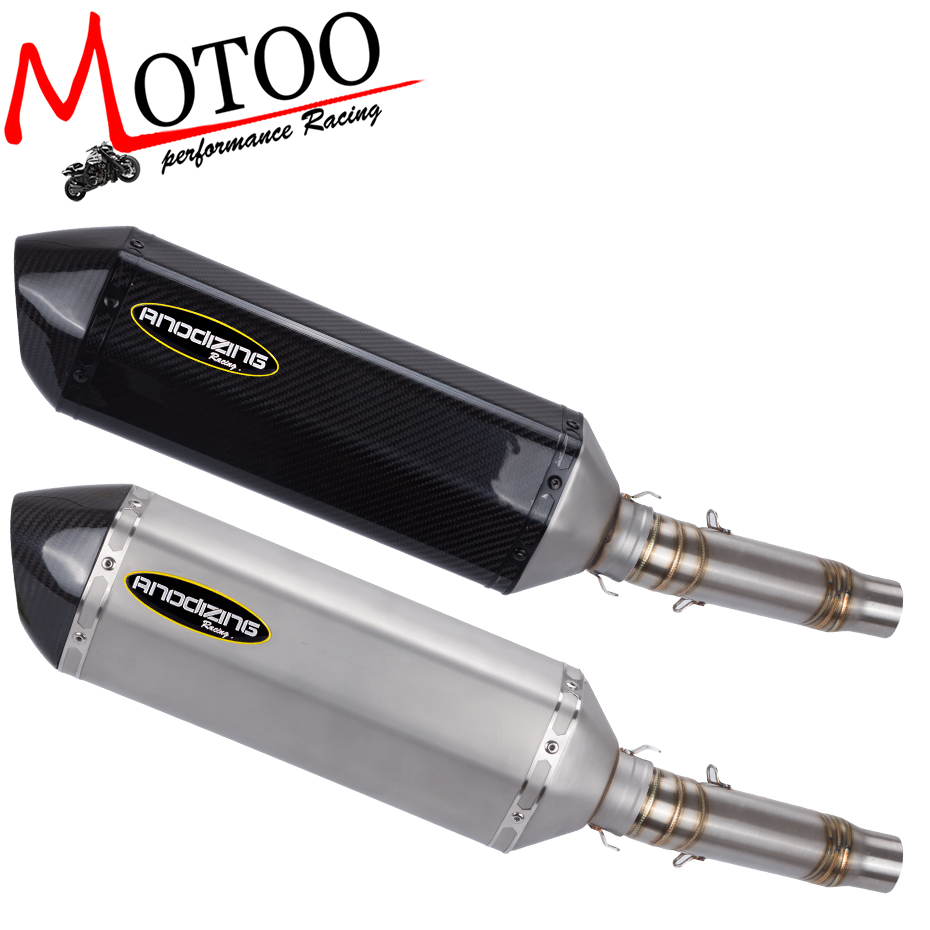 Motoo - motorcycle slip on FOR HONDA CB300 Exhaust Muffler Pipe Link Carbon Fiber Exhaust middle Pipe Escape