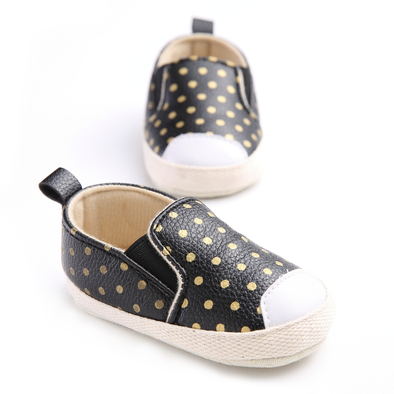 Baby Girls Shoes PU Leather Baby Moccasins Gold Dot Girls Toddler First Walker