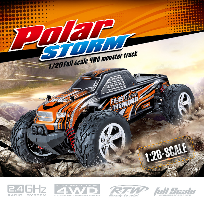 FeiYue FY-15 2.4G Bigfoot Full Scale 4WD Monster Truck 1:20 RC Off-Road Car Drives On Land 25km/h High Speed FY15 RC Car цена 2017