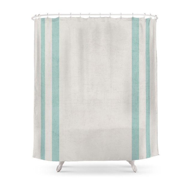 French Linen Robins Egg Blue Shower Curtain Waterproof Polyester