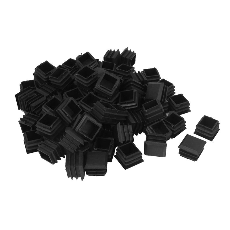 00 Pieces Plastic Cover Caps Terminal Tube Square Tube Outlet Socket 125x25mm