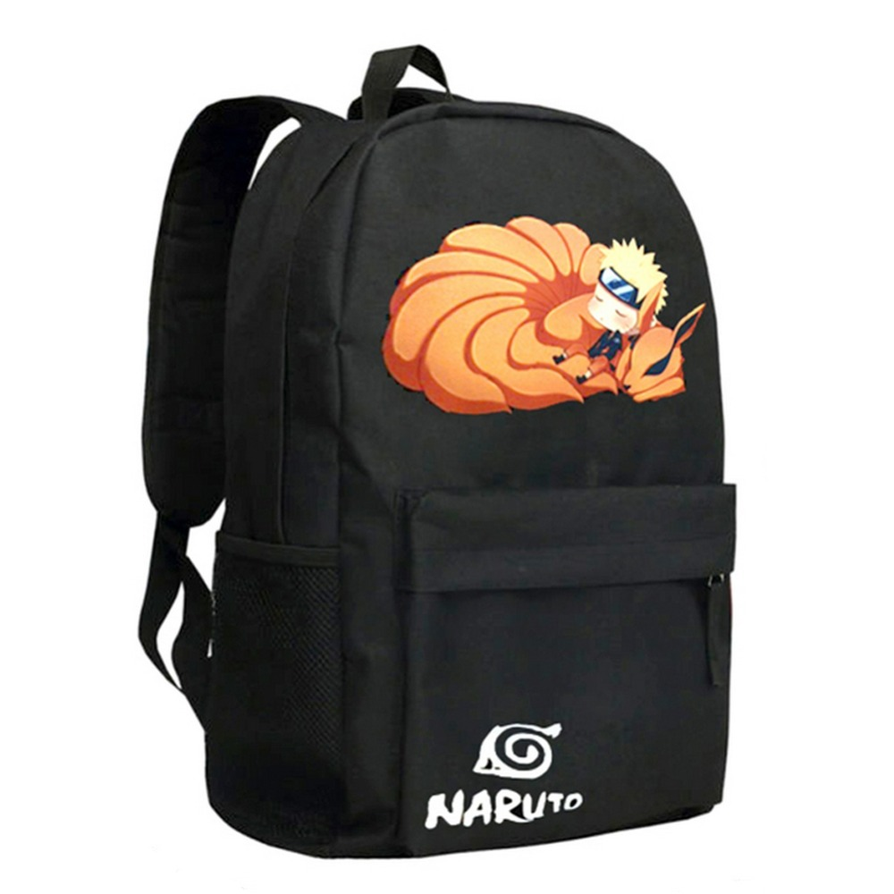 MeanCat Naruto Backpack Anime Oxford Naruto Bag School Travel Laptop Bag Mochila Naruto for Boys Girls Schoolbag 2017 new naruto school backpack anime bag cosplay cartoon student leisure back to school 17 backpacks laptop travel shouler bag