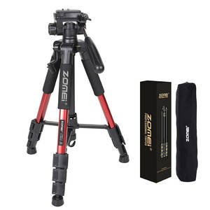 Camera Tripod Pan-Head DSLR ZOMEI Professional Q111 Travel Aluminum Portable for Three-Color
