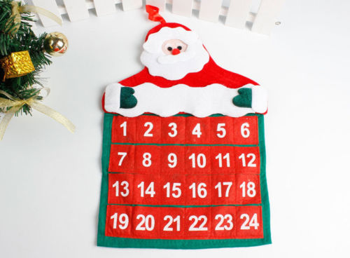 Hot Fashion Christmas Calendar Countdown Xmas Fabric Blackboards Home Decor Drop Ornaments Craft Gifts In Pendant