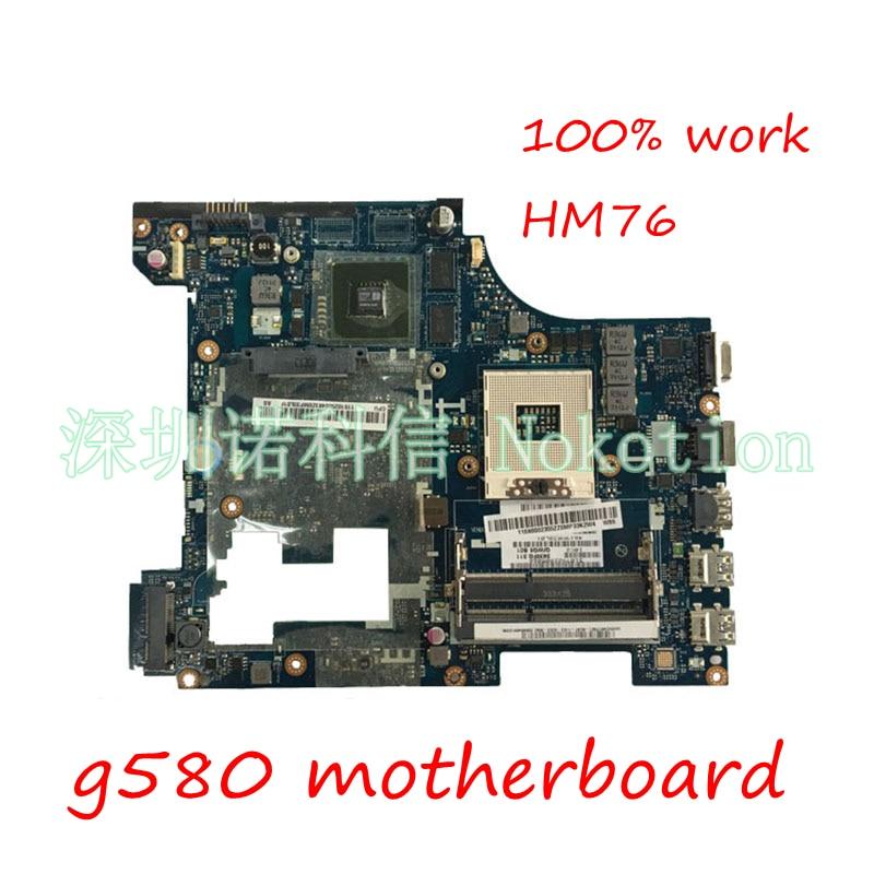 NOKOTION Материнская плата ноутбука 11S900007 для lenovo G580 QIWG5_G6_G9 LA-7981P PGA989 SLJ8E HM76 DDR3 основной плате полный испытания
