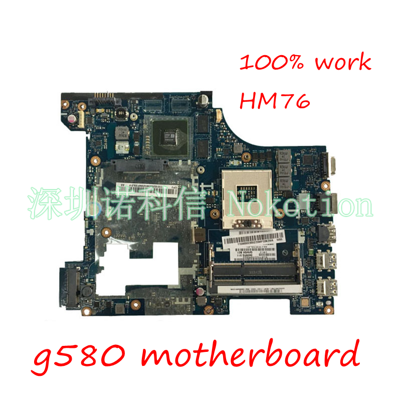 NOKOTION Laptop Motherboard 11S900007 For Lenovo G580 QIWG5_G6_G9 LA-7981P PGA989 SLJ8E HM76 DDR3 Main board full tested la 7982p laptop motherboard for lenovo g580 p580 p585l main board hm76 gma hd ddr3