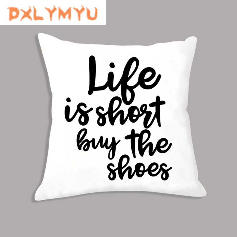 Arrow LOVE Quote Eyelash Nordic Prints Waist Cushion Sofa Home Decor Throw Pillow Decorative Velvet