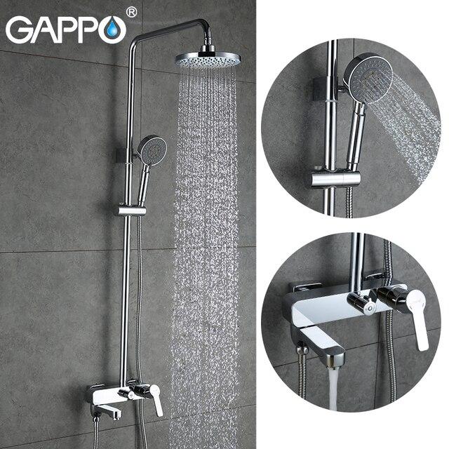 GAPPO น้ำตกอาบน้ำก๊อกน้ำชุดอ่างอาบน้ำก๊อกน้ำอาบน้ำ Rain Shower TAP ห้องน้ำหัวฝักบัวสแตนเลสฝักบัวอาบน้ำ