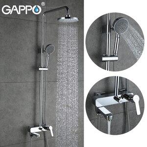 Image 1 - GAPPO waterfall shower bath faucets set bathtub mixer faucet bath rain shower tap bathroom shower head stainless shower bar
