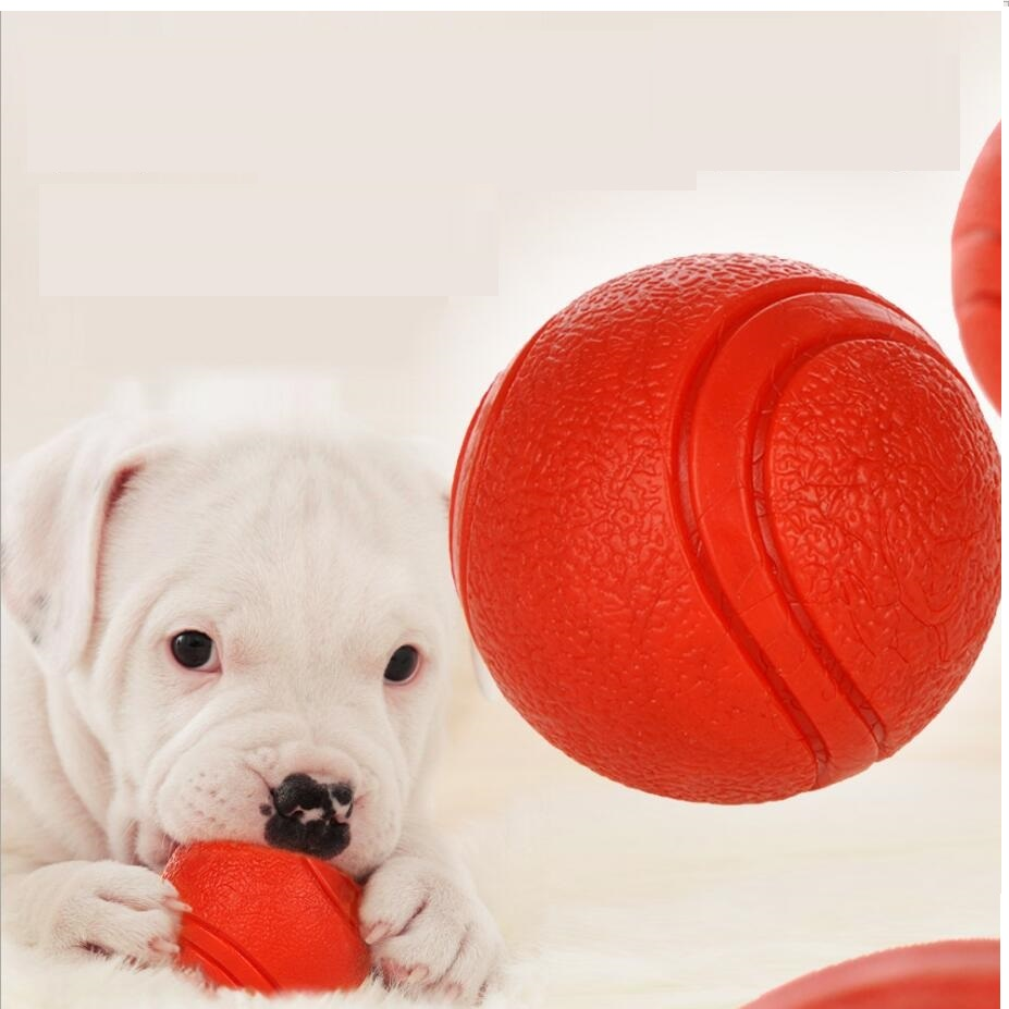 NEW Dog Toy Rubber Ball Pet Outdoor Play Toy Bite-resistant Dogs Puppy Teddy Pitbull S M L