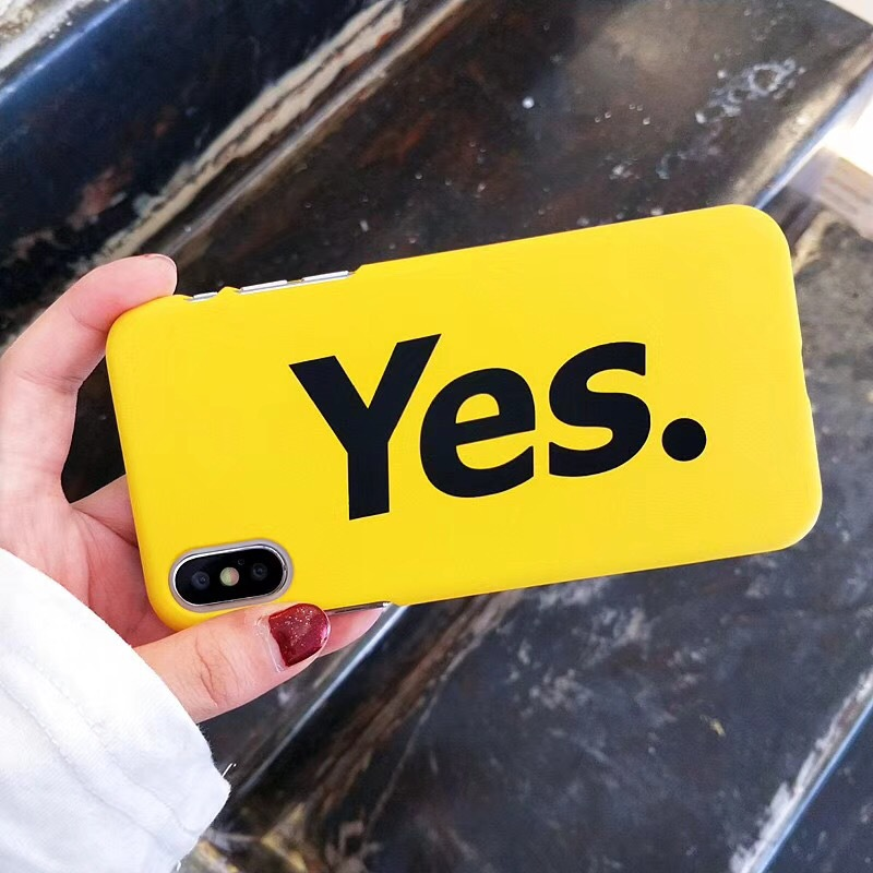 XINDIMAN simple letter cover case for iphone 7 plus hard plastic Yellow phone 6 6s 6plus 8 8plus X