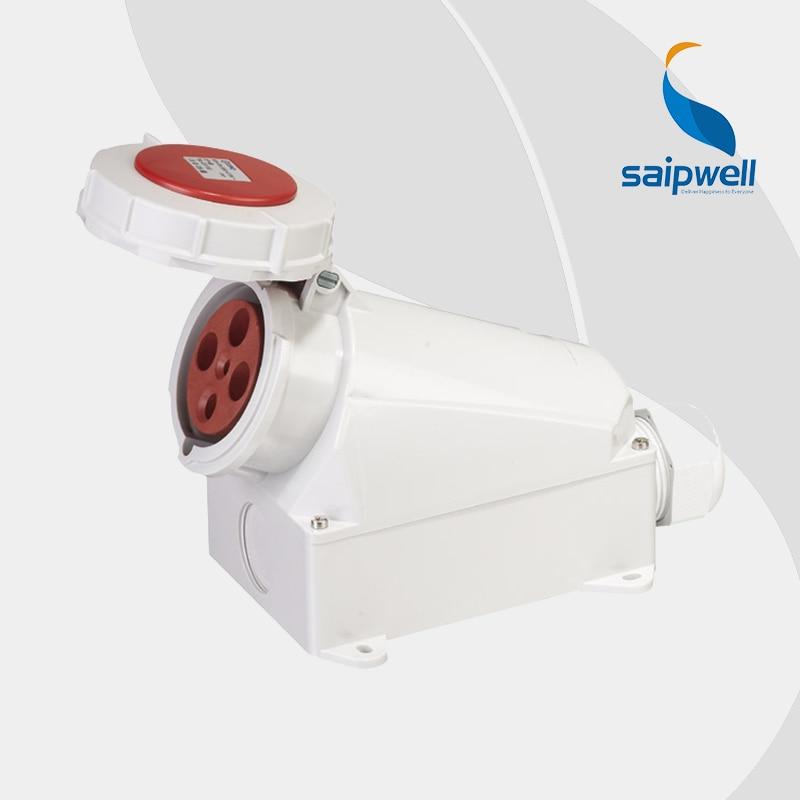 IP67 4P 63A Waterproof Industrial Electrical Socket ...