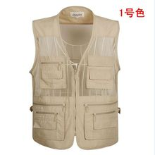 spring Summer Vest Men Casual Mesh Waistcoat Loose Multi-pockets Mens Photography Plus Size S-5XL