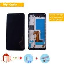 Оригинальный Для 5,0 дюймов Huawei honor 6 ЖК дисплей кодирующий преобразователь сенсорного экрана в сборе с рамкой черный белый экран Замена