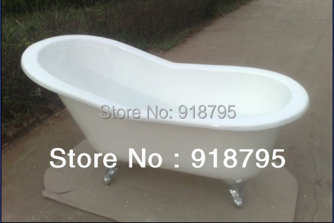 67 CUPC Approval Freestanding Luxury Bathtub Cast Iron Double Ended Tub 1001-2