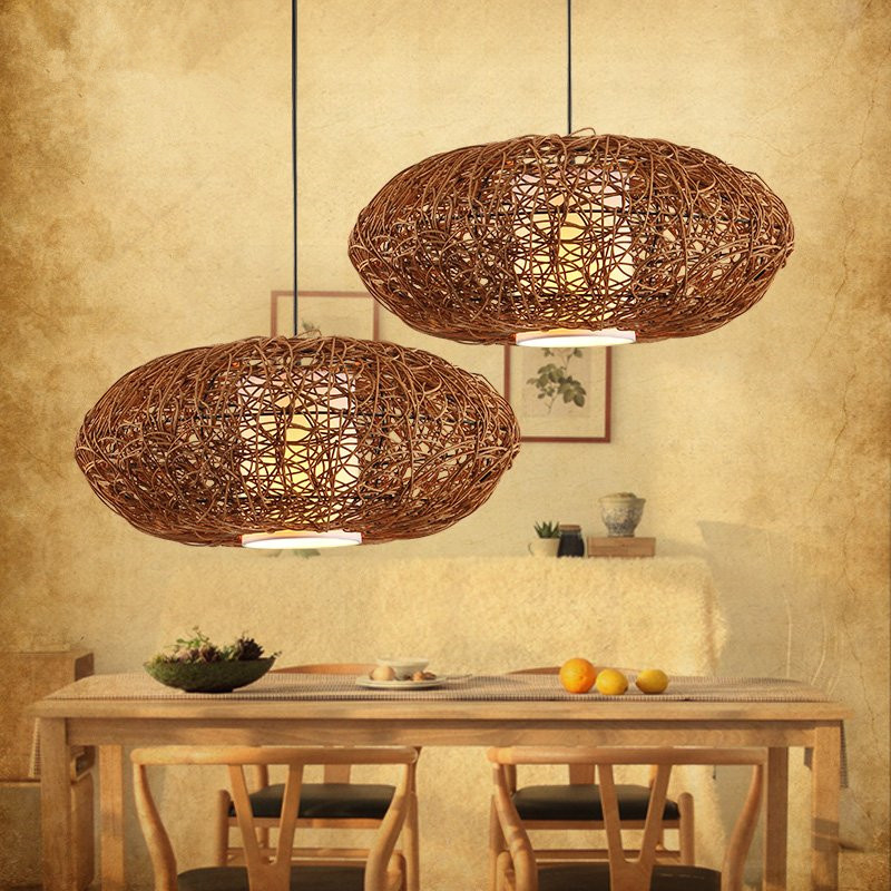 Hand knitting Chimney droplight Contracted contemporary creative personality Study cafe restaurant droplight contemporary and contracted restaurant droplight aluminum pendant lamp