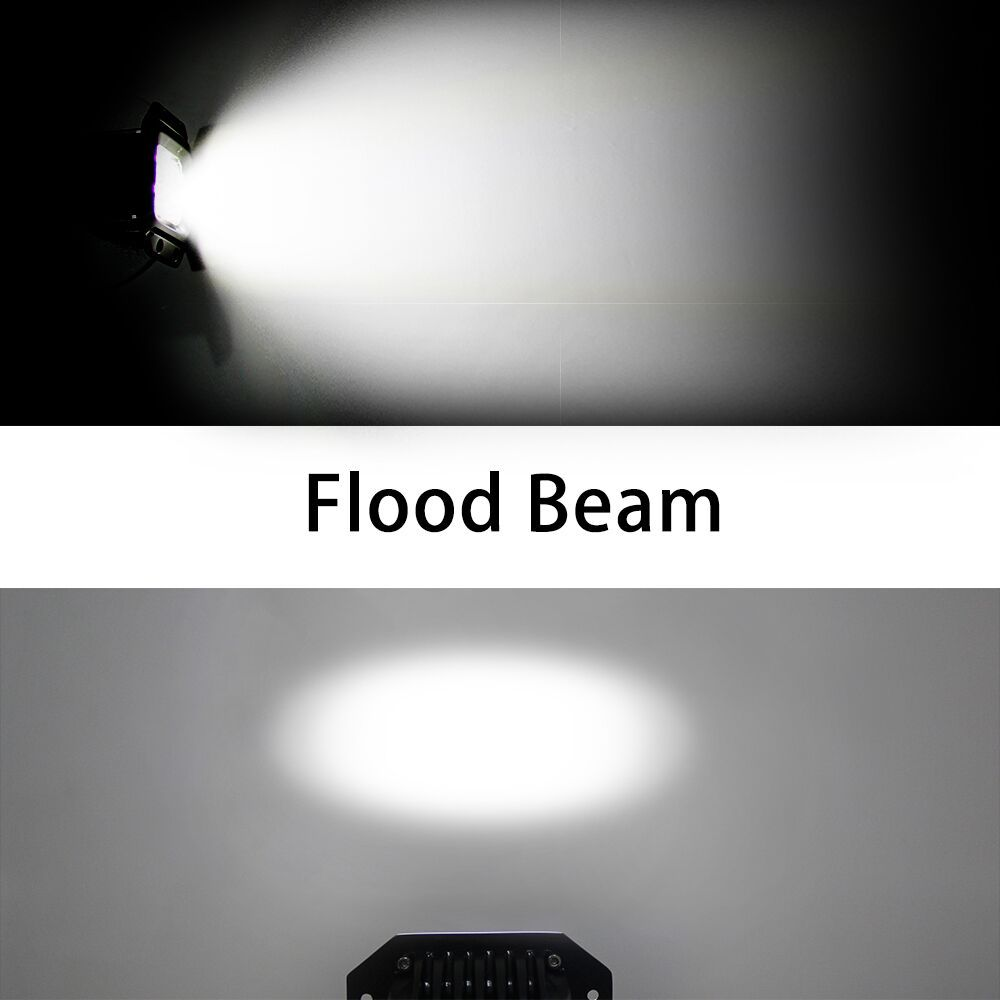 CO LIGHT Led Working Lights 2 Pieces 20W Spot Flood Beam DRL for Jeep Wrangler Jk Ford 4X4 Off Road Car Styling