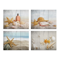Visual Art Decor Seashell Starfish Beach Picture Canvas Printing Art Home Office Bathroom Wall Art