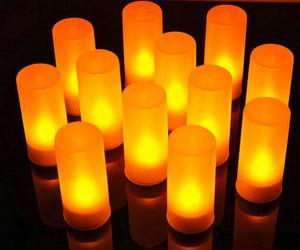 Image 5 - Set van 12 afstandsbediening LED kaarsen Flickering frosted Oplaadbare Thee Lichten/Elektronica Kaars lamp Kerst Bruiloft bar