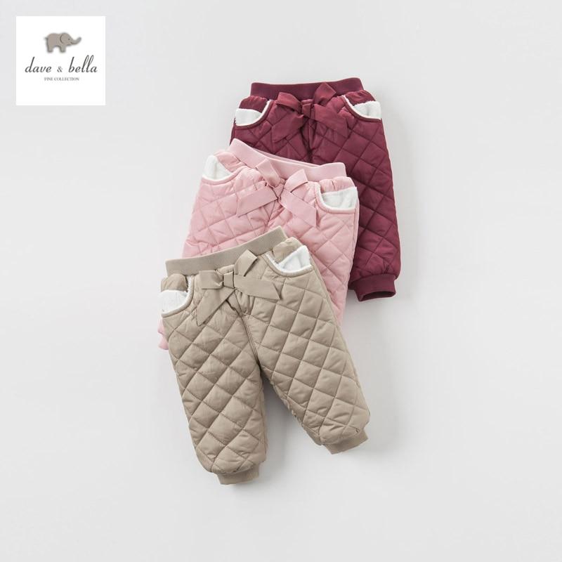 DB4202 dave bella baby girls pink burgundy camel padded pants