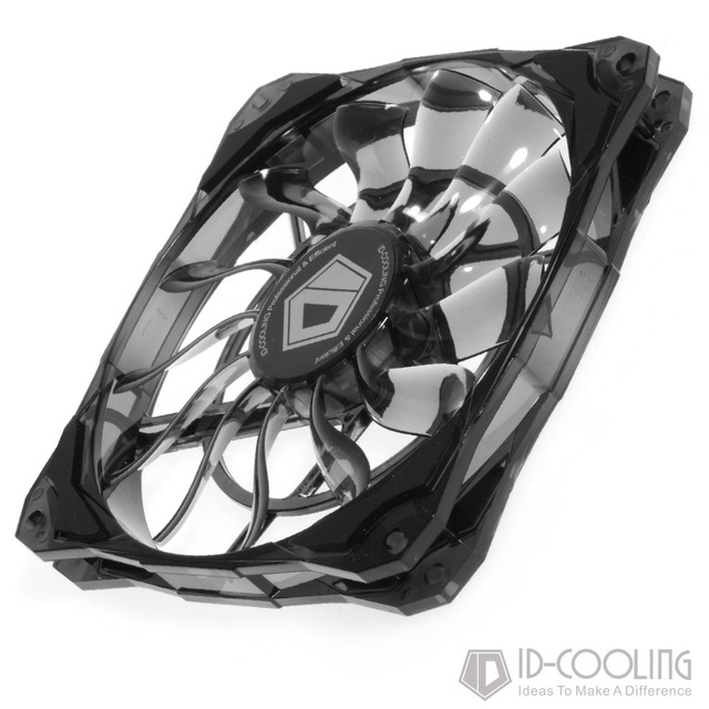 ID-COOLING Slim 15mm Thickness, Best for Small Case, Big Airflow of 53.6CFM, 120mm PWM Controlled Fan With De-vibration Rubber