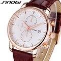 Sinobi кожаный ремешок спорт кварцевые часы мужчин свободного покроя мужские часы лучший бренд класса люкс водонепроницаемый кварц - часы наручные часы Reloj хомбре