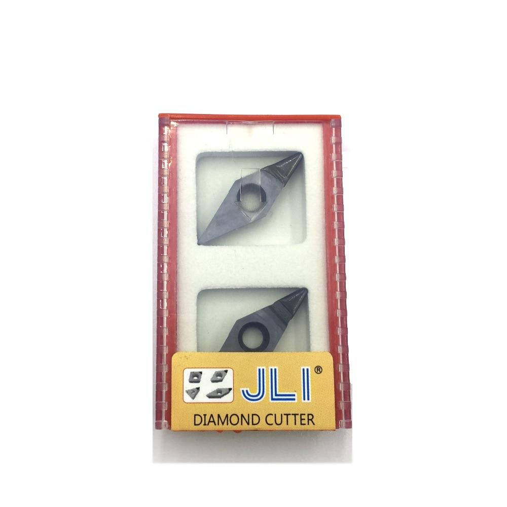 JLI 2ks / sada Diamantový soustruh VCGW160404 Řezací nástroj PCD - Obráběcí stroje a příslušenství - Fotografie 2