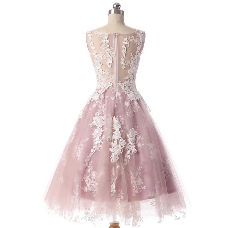 Aswomoye Elegancka krótka sukienka wieczorowa 2018 Nowa elegancka - Suknie specjalne okazje - Zdjęcie 2
